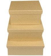 RECTANGULAR KRAFT BOXES - Natural