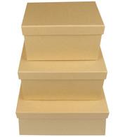 RECTANGULAR KRAFT BOXES - Natural