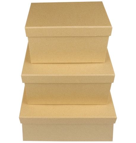 RECTANGULAR KRAFT BOXES Natural
