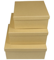 SQUARE KRAFT BOXES - Natural