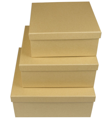 SQUARE KRAFT BOXES Natural