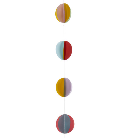 Paper Disc Garland Multicoloured