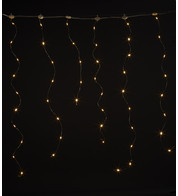 Silver Wire Icicle Lights - Warm White