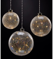 Iridescent Glass Ball Lights - Iridescent