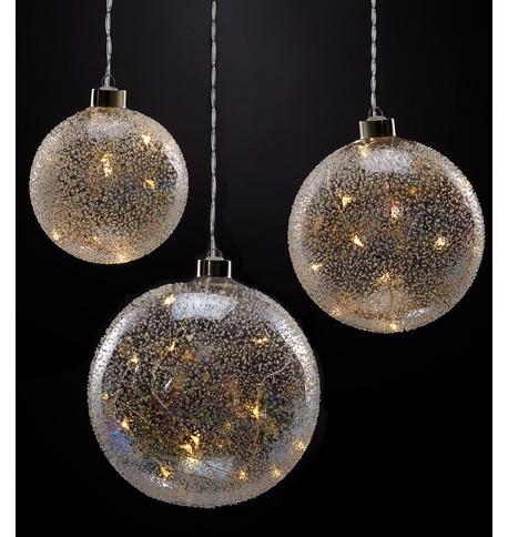 Iridescent Glass Ball Lights Iridescent