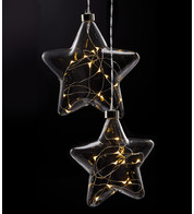 Clear Glass Star Lights - Clear