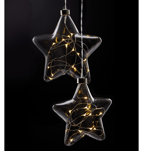 Clear Glass Star Lights Clear