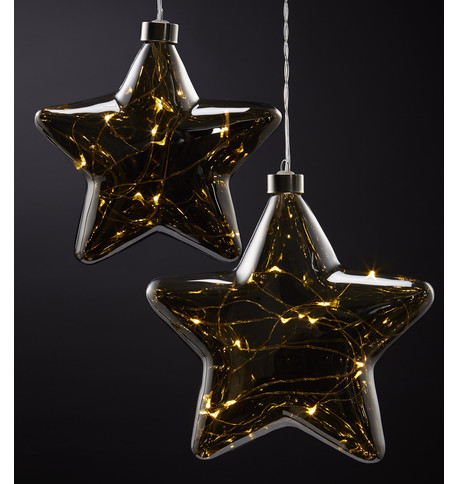 Pewter Glass Star Lights Pewter