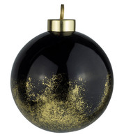 Black Gold Leaf Baubles - Black