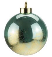Mint Gold Leaf Baubles - Green