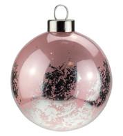 Pink SIlver Leaf Baubles - Pink