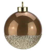 Brown Gold Glitter Baubles - Brown