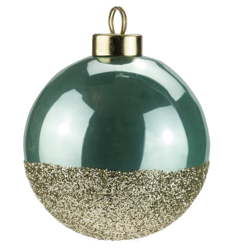 Mint Gold Glitter Baubles Mint
