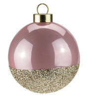 Pink Gold Glitter Baubles - Pink