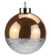 Sand Silver Glitter Baubles - Gold