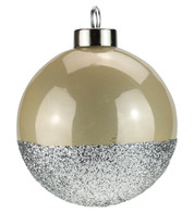 Oyster Silver Glitter Baubles - Oyster