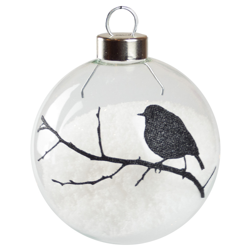 black robin silhouette baubles dzd