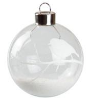 White Robin Silhouette Baubles - White