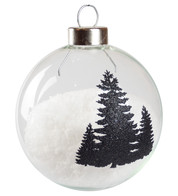 Black Silhouette Tree Baubles - Black