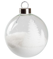 White Silhouette Tree Baubles - White