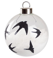 Black Swallow Silhouette Baubles - Black