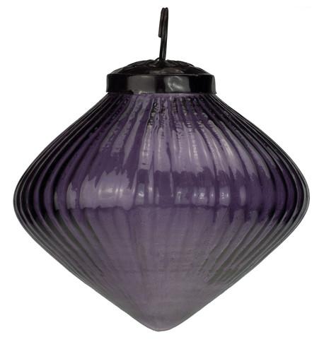 Ribbed Purple Glass Onions Purple