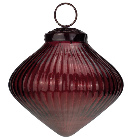 Ribbed Red Glass Onions Red