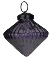 Ribbed Purple Glass Onions - Purple