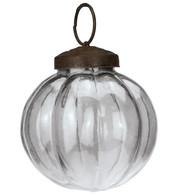 Clear Glass Segment Baubles - Clear