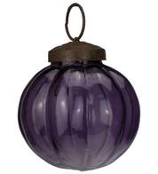 Purple Glass Segment Baubles - Purple