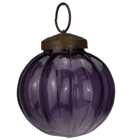 Purple Glass Segment Baubles Purple