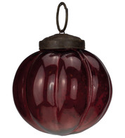 Red Glass Segment Baubles - Red