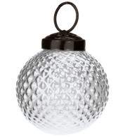 Clear Glass Hobnail Baubles - Clear