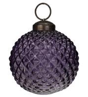 Purple Glass Hobnail Baubles - Purple