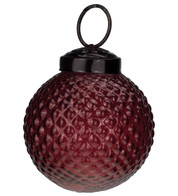 Red Glass Hobnail Baubles - Red