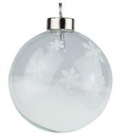 White Snowflake Silhouette Baubles - White