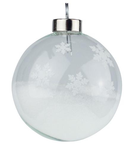 White Snowflake Silhouette Baubles White