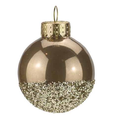 Brown Gold Glitter Baubles Brown