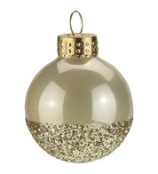 Oyster Gold Glitter Baubles - Oyster