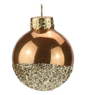 Sand Gold Glitter Baubles - Gold