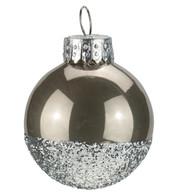 Mushroom Silver Glitter Baubles - Mushroom