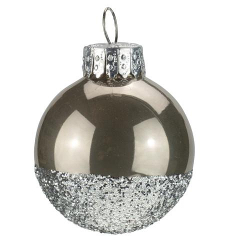 Mushroom Silver Glitter Baubles Mushroom