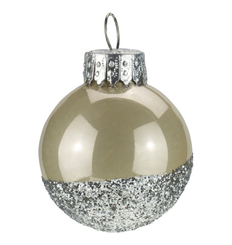 Oyster Silver Glitter Baubles Oyster