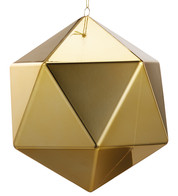 Gold Geometric Baubles - Gold