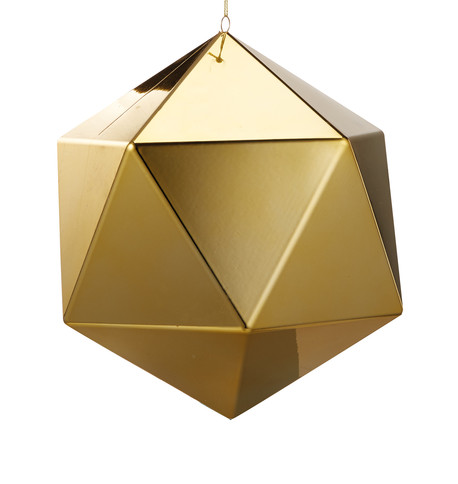Gold Geometric Baubles Gold