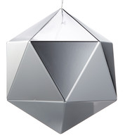 SIlver Geometric Baubles - Blue