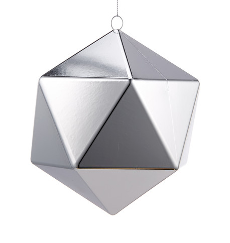 SIlver Geometric Baubles Silver