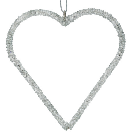 Silver Beaded Hearts Silver
