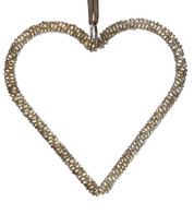 Rose Gold Beaded Hearts - Rose Gold