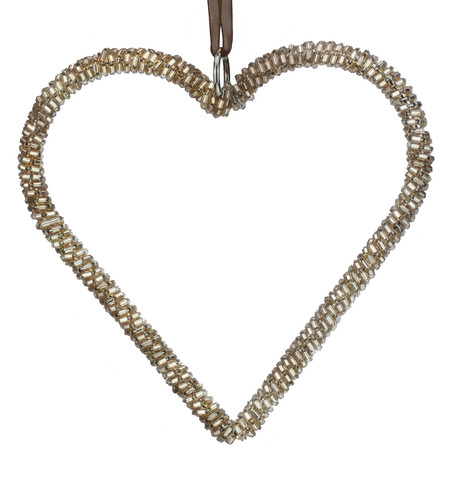 Rose Gold Beaded Hearts Rose Gold